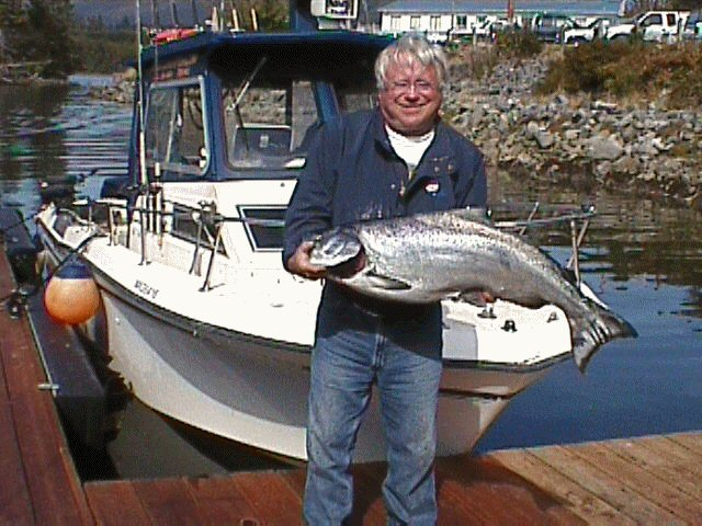 Al Gibson Chinook Salmon Fishing In Uculet Canada